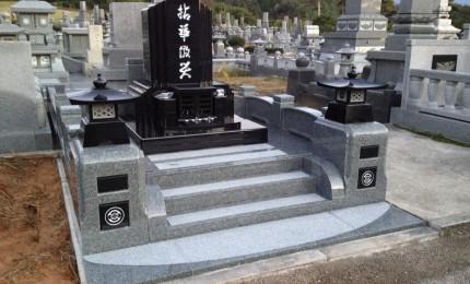 段墓インド産黒御影