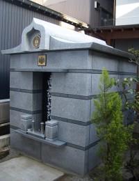 H寺納骨堂外観 剛壁工法構造