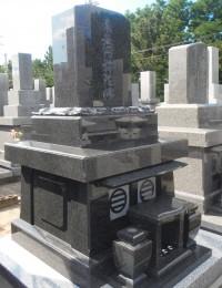 笠墓 南アフリカ産黒御影石