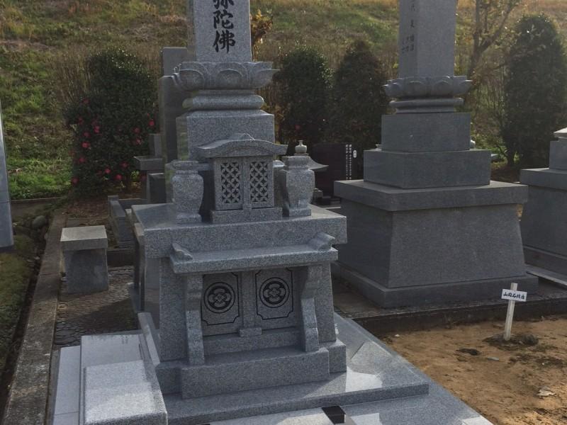 笠墓 国産 白御影